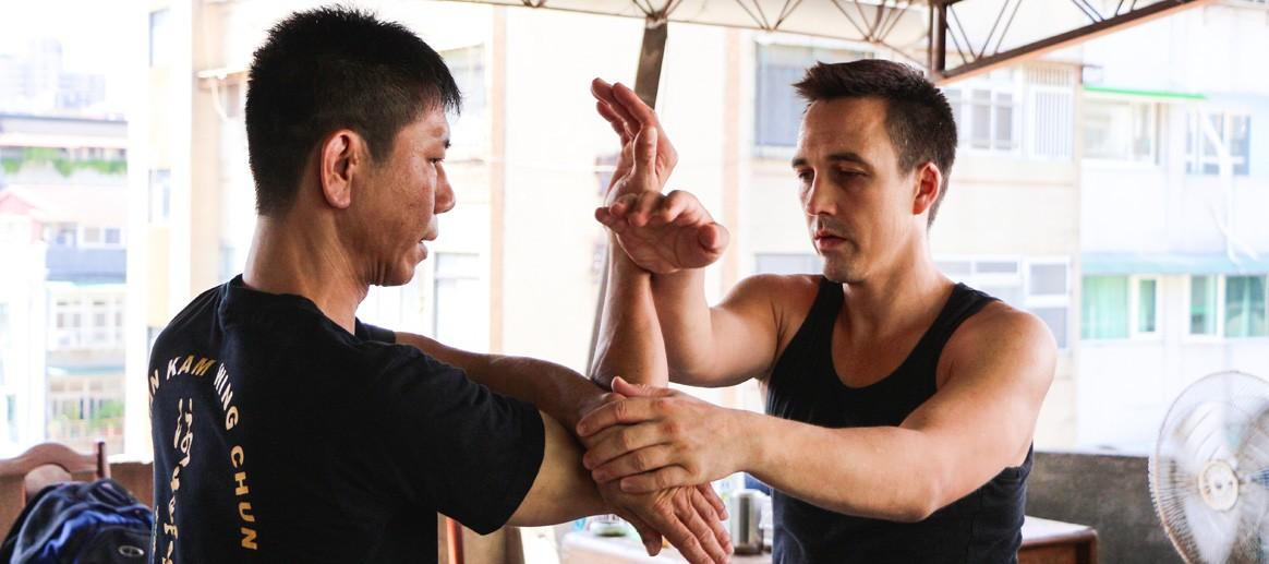 Selbstverteidigung Jena Kampfkunst Gewaltprävention Wing Chun Chi Sao feeling Robin Tutzschke