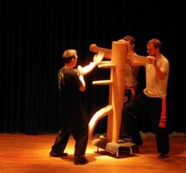 Selbstverteidigung Jena Kampfkunst Gewaltprävention Holzpuppe Lo Man Kam Wing Chun Kung Fu Kampfkunsttempel Ip Man