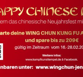 Chinesisches Neujahr Kampfkunsttempel Wing Chun Jena