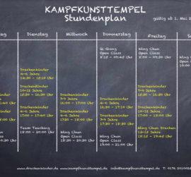 Kampfkunsttempel Wing Chun Jena Stundenplan